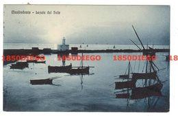 MANFREDONIA - LEVATA DEL SOLE F/PICCOLO VIAGGIATA 1928 - Manfredonia