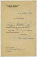 Bulletin 1939 élève Russe Quincy-sous-Sénart . Appréciation Et Signature De La Princesse Théodore Irina Pavlovna Paley . - Autographes