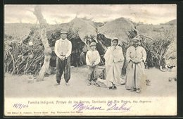 AK Territorio Del Rio Negro, Familia Indigena, Arroyo De Los Berros - Argentina