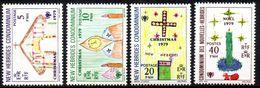Col17  Colonie Nouvelles Hebrides N° 571 à 574 Neuf XX MNH  Cote 3,00€ - Engelse Legende