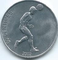 Congo - 50 Centimes - 2002 - Soccer - KM75 - Congo (République Démocratique 1998)
