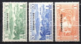 Col17  Colonie Nouvelles Hebrides Taxe N°  36 38 & 40 Neuf XX MNH  Cote 19,50€ - Strafport