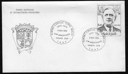 TAAF ( F D C ) : PREMIER  JOUR  DU  9  NOVEMBRE  1980 , A  SAISIR . TIR - FDC