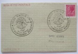 Italien Ganzsache Aerogramm Biglietto Postale Pinzolo 1976 (33473) - Italien