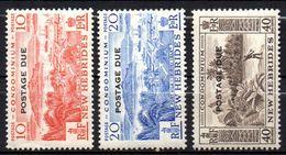 Col17  Colonie Nouvelles Hebrides Taxe N°  42 à 44  Neuf XX MNH  Cote 10,00€ - Strafport