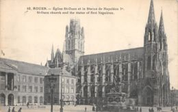 Rouen (76) - Eglise St Ouen Et La Statue De Napoléon 1er - Rouen