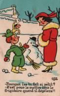 CPA - HUMOUR - Illustration Pierre ZYRERE - Thème Enfant Bonhomme De Neige - Edition E.A.P./ N°456 - Humor