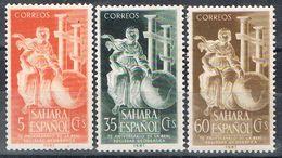 Serie Completa SAHARA Español 1953, Sociedad Geografica, Num 101-103 * - Sahara Spagnolo