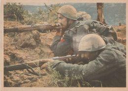 Cartolina In Franchigia /  Postcard /  Non  Viaggiata - Unsent /   Forze Armate - Due Fanti Alla Mira. - Weltkrieg 1939-45
