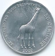 Congo - 50 Centimes - 2002 - Giraffe - KM78 - Congo (Democratic Republic 1998)