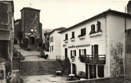 Cpsm Petit Format BIRIATOU  L' Eglise Auberge Hiribarren  RV - Biriatou