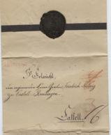 1824 WERTHEIM Trauerbrief An Graf Eitel-Ferdinand Von Fugger-Glött In Castell - Autographes