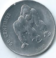 Congo - 50 Centimes - 2002 - Gorilla - KM79 - Congo (Democratic Republic 1998)