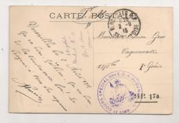 1915 / CACHET MILITAIRE / COURS SPECIAL DES E.O.A. DU GENIE  C386 - Guerra De 1914-18