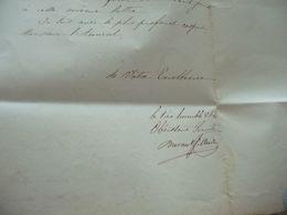 LAS Autographe Signée Durand à Duperre 1839 Livraison De Mahines à Forer Pour Le Navire Typhis - Autographes