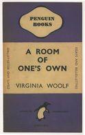 A Room Of Ones Own Virginia Woolf 1945 Book Postcard - Scrittori