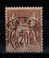 Sage Type I - YV 67 Oblitere Pas Aminci , Bon Centrage Cote 20 Euros - 1876-1878 Sage (Type I)