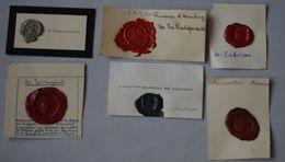 Cachet Cire Noblesse 6 Cachets Armoiries Blason Sceau De Courcelles Lesseps Provenchères Padirac Guiringaud D'Arenberg - Seals