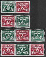 NVPH 379a-b-c-d - 1941 - Vliegende Duif - Rolzegels - Periodo 1891 – 1948 (Wilhelmina)