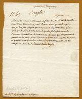 Comte De  BROGLIE (Maréchal De France)  1789 (Généalogie Famille PUYSEGUR) - Autographs