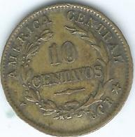 Costa Rica - 1917 - 10 Centavos - KM149.1 - Brass (CGR On Right) - Costa Rica