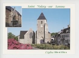 Saint Valéry Sur Somme - L'église XIIè & XVè S.(cp Vierge) - Saint Valery Sur Somme