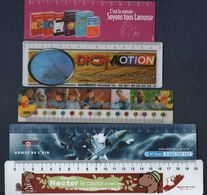 -080 -  THEME : DOUBLE DECIMETRE PLASTIFIE - LOT 5 MARQUE PAGE - Bookmarks