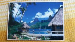 CPM POLYNESIE FRANCAISE BAIE DE COOK VUE DU CLUB BALI HAI A MOOREA   TEVA SYLVAIN 464  PACIFIC PROMOTION - Polynésie Française
