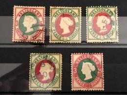 Altdeutschland Helgoland Lot An Gestempelten Briefmarken . - Helgoland