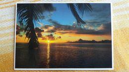 CPM POLYNESIE FRANCAISE COUCHER DE SOLEIL SUR MOOREA   TEVA SYLVAIN 266  PACIFIC PROMOTION - Polynésie Française