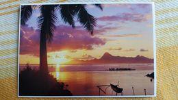 CPM POLYNESIE FRANCAISE COUCHER DE SOLEIL SUR MOOREA   TEVA SYLVAIN 367  PACIFIC PROMOTION - Polynésie Française