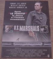 AFFICHE CINEMA ORIGINALE FILM U.S. MARSHALS STUART BAIRD Tommy Lee JONES Wesley SNIPES 1998 TBE - Posters