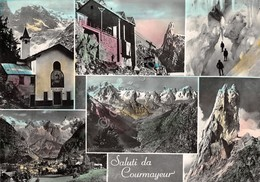 Cartolina Courmayeur Vedute Colorata - Italia