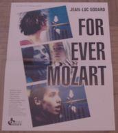 AFFICHE CINEMA ORIGINALE FILM FOR EVER MOZART Jean-Luc GODARD Madeleine ASSAS Frédéric PIERROT 1996 TBE - Posters