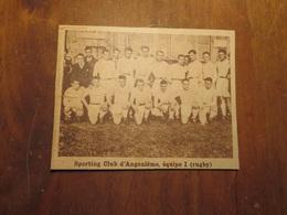 ANGOULÈME (CHARENTE): SPORTING CLUB D'ANGOULÈME ÉQUIPE 1 RUGBY (PHOTO DE JOURNAL: 02/1932) - Poitou-Charentes