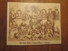 ANGOULÈME (CHARENTE): RACING CLUB D'ANGOULÈME RUGBY (PHOTO DE JOURNAL: 02/1932) - Poitou-Charentes