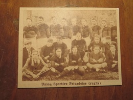 PRIVAS (ARDÈCHE): UNION SPORTIVE PRIVADOISE RUGBY (PHOTO DE JOURNAL: 02/1932) - Rhône-Alpes