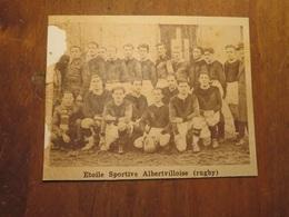 ALBERTVILLE (SAVOIE): ÉTOILE SPORTIVE ALBERTVILLOISE RUGBY (PHOTO DE JOURNAL: 02/1932) - Alpes - Pays-de-Savoie