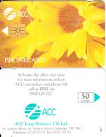 UK - Flowers/Sunflower, ACC Telecard 50 Units, Tirage 14000, 08/96, Used - Flowers