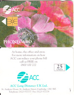 UK - Flowers/Anemone, ACC Telecard 25 Units, Tirage 3000, 05/96, Used - Flowers