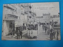 """83 ) La Seyne-sur-mer N° 41 - Le Quai  """" Café De L'univers  - Tram """" - Année 1906 - édit : Bar - La Seyne-sur-Mer"""