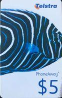 AUSTRALIE  -  Prepaid  -   Telstra PhoneAway  -  Fish  -   $ 5 - Australië