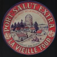 """Ancienne étiquette Fromage Port Salut Extra La Vieille Tour """"LF"""" Louis Ferreux Fromagerie De Demangevelle Haute Saone 70 - Käse"""
