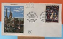 La Cathédrale - Chartres - 9.11.1963 - FDC 1er Jour - (Coté 18€ Y&T) - FDC