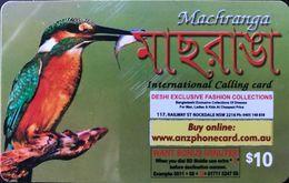AUSTRALIE  -  Prepaid  -   Machranga Phone Card  -  $ 10 - Australië