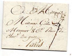 Seine-Maritime - LAC Datée Du 08/03/1787 - Marque HAVRE 52 Mm (Lenain N° 12) - Marcophilie (Lettres)