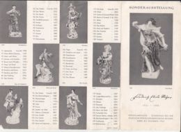 7916FM- TOURISM BROCHURES, FRIEDRICH ELIAS MEYER PORCELAIN SPECIAL EXHIBITION, MEISSEN, 1963, GERMANY-DDR - Reiseprospekte