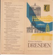 7917FM- TOURISM BROCHURES, DRESDEN, MAP, EVENTS, 1961, GERMANY-DDR - Reiseprospekte