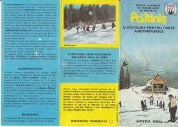 7919FM- TOURISM BROCHURES, PALTINIS SKI RESORT, CHALET, CABLE CHAIRS, 1981, ROMANIA - Reiseprospekte