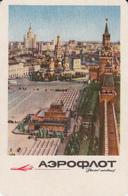 87714- MOSCOW RED SQUARE, AEROFLOT ADVERTISING, POCKET CALENDAR, 1965, RUSSIA - Calendarios